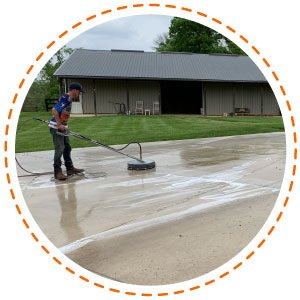 Concrete Cleaning in Hagerstown, Maryland | Hinkle's